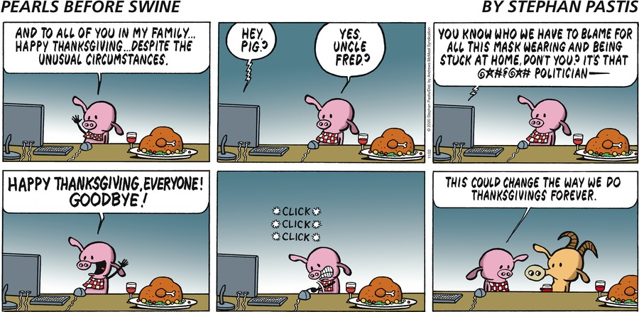 Pearls Before Swine Comic Strip for November 22, 2020
