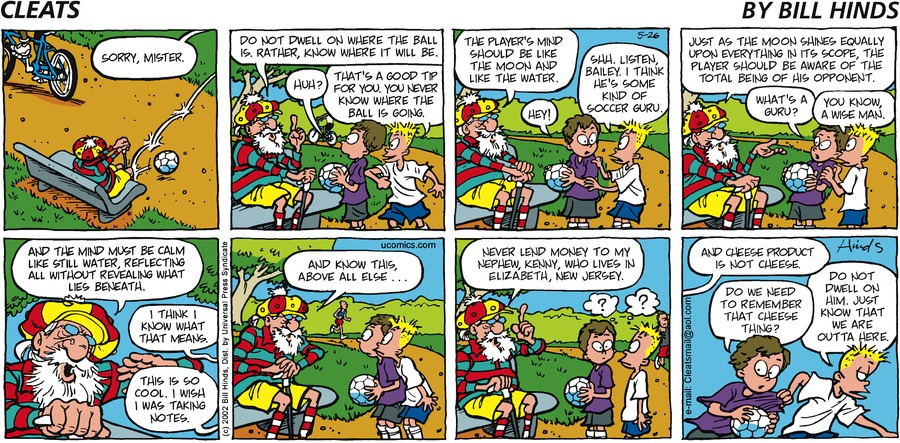 Cleats Comic Strip for May 26, 2002