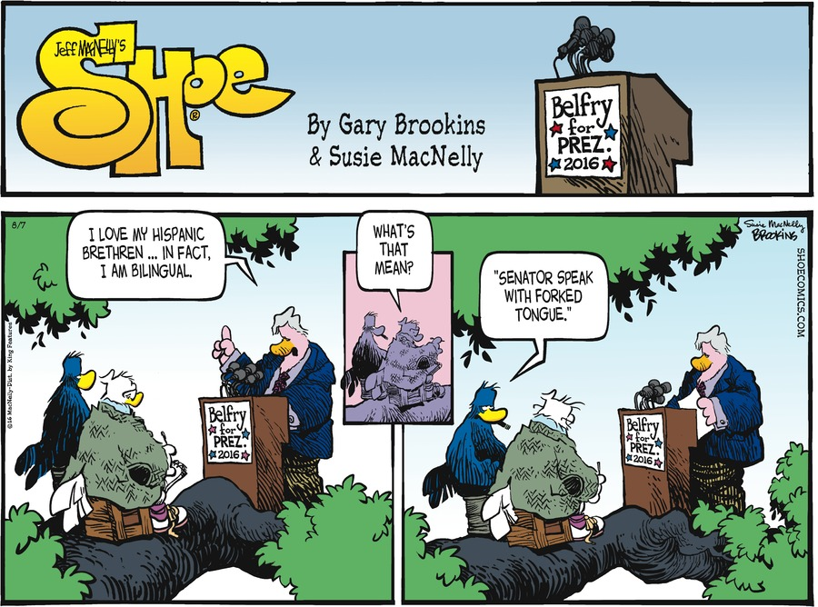 Shoe Comic Strip for August 07, 2016