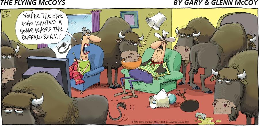 """You're the one who wanted a home where the buffalo roam"""