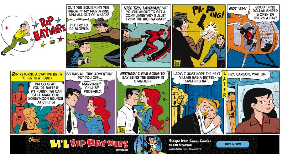 Rip Haywire Comic Strip for May 01, 2016