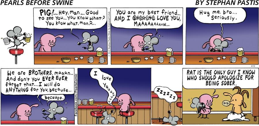 Pearls Before Swine Comic Strip for April 12, 2015