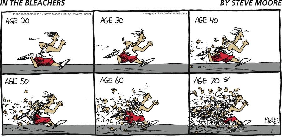 In the Bleachers Comic Strip for November 11, 2012