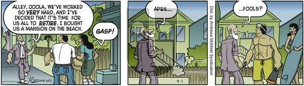 Alley Oop on Monday April 1, 2019 Comic Strip