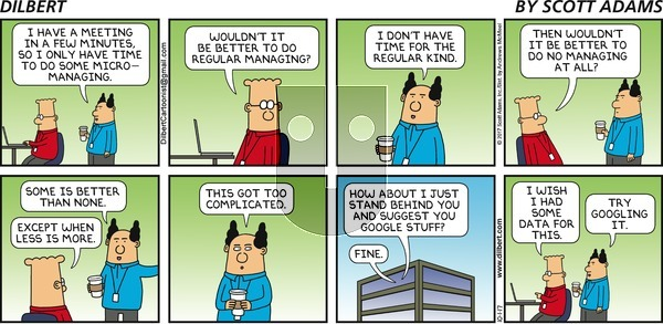 Dilbert on Sunday October 1, 2017 Comic Strip