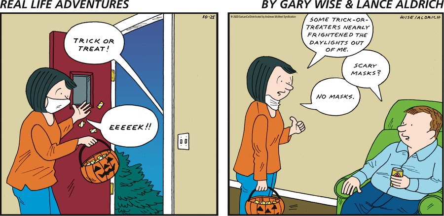 Real Life Adventures Comic Strip for October 25, 2020