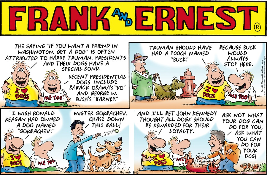 Frank and Ernest Comic Strip for August 13, 2017