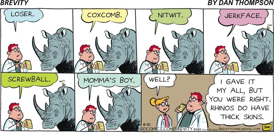 Brevity Comic Strip for June 21, 2015