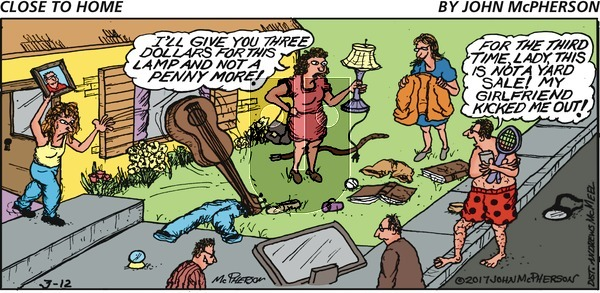 Close to Home on Sunday March 12, 2017 Comic Strip