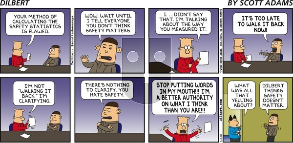 Dilbert on Sunday May 3, 2020 Comic Strip