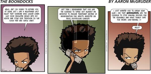 The Boondocks on Sunday October 6, 2002 Comic Strip