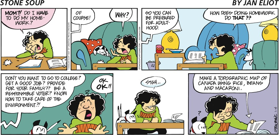 Stone Soup Comic Strip for January 04, 2009