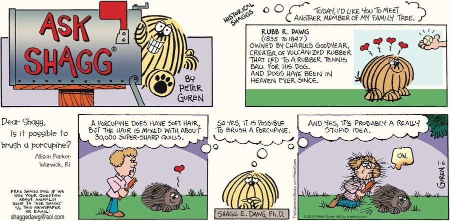 Ask Shagg for Jan 6, 2013 Comic Strip
