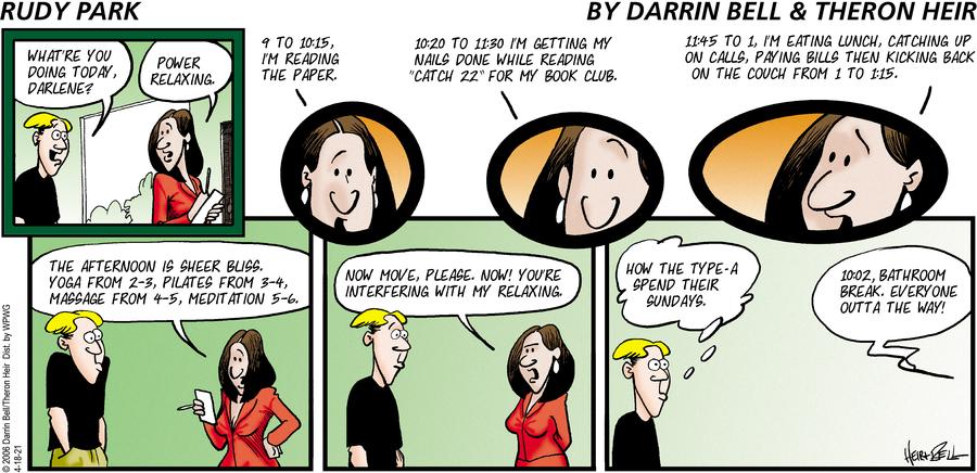 Rudy Park Comic Strip for April 18, 2021