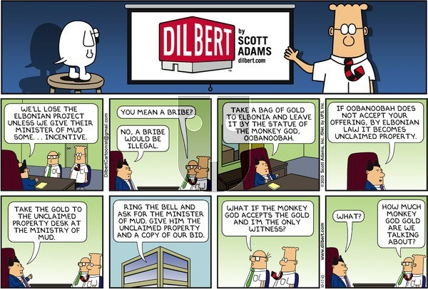 Dilbert - Sunday October 17, 2010 Comic Strip