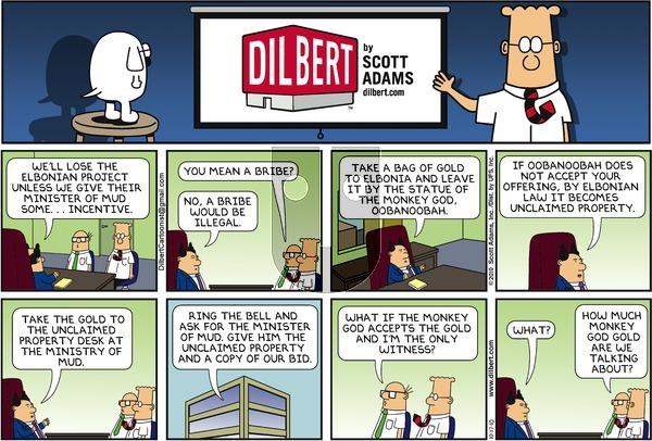 Dilbert on Sunday October 17, 2010 Comic Strip