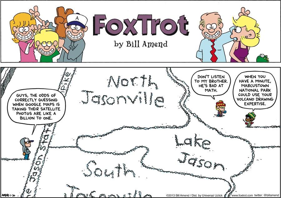 FoxTrot Comic Strip for January 20, 2013