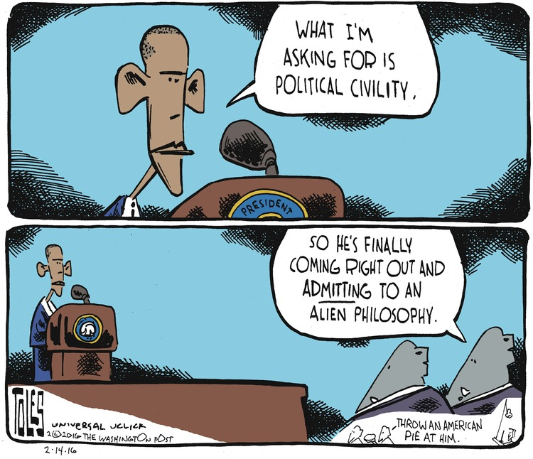 Tom Toles Comic Strip for February 14, 2016
