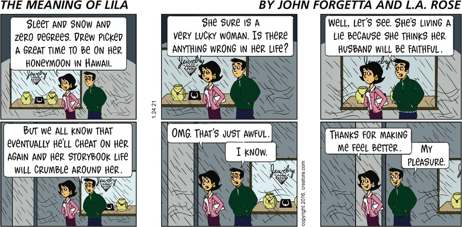 The Meaning of Lila Comic Strip for January 24, 2021