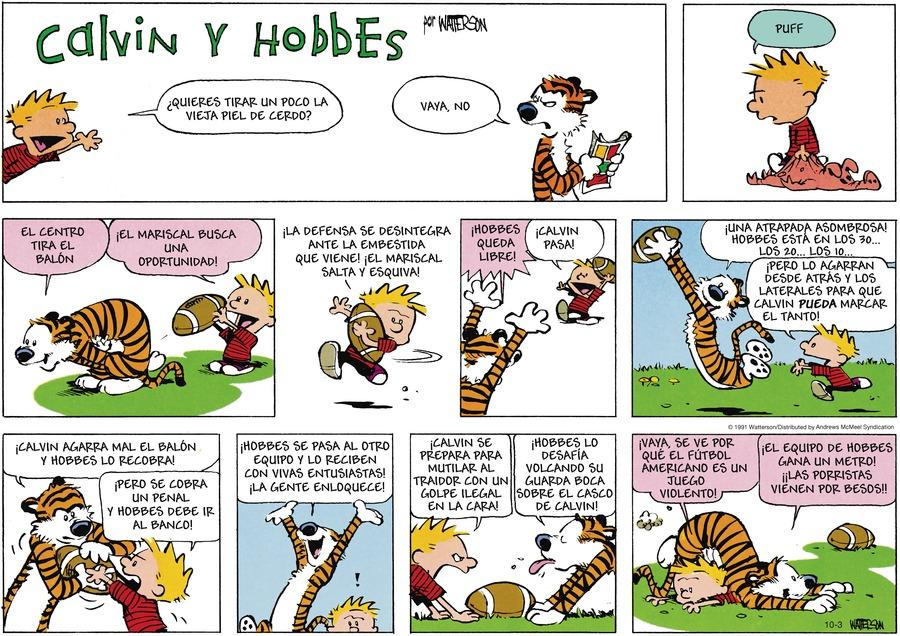 Calvin and Hobbes en Español by Bill Watterson on Sun, 03 Oct 2021