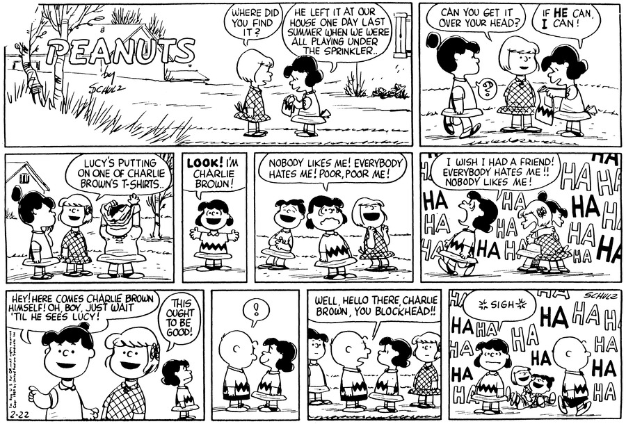 Peanuts Comic Strip for February 22, 1959