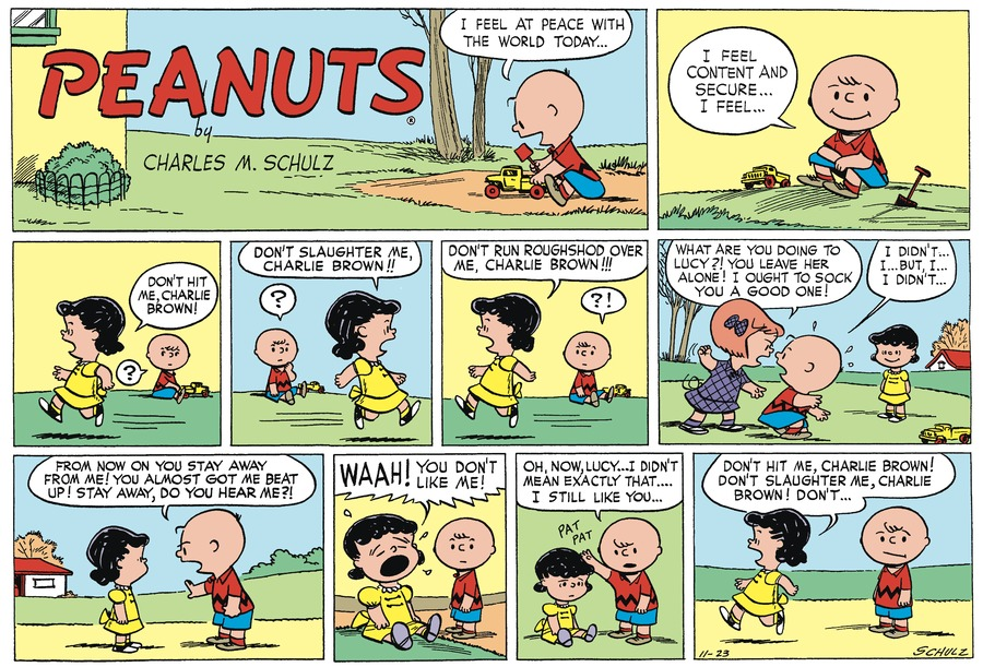 Peanuts Begins Comic Strip for November 21, 2020