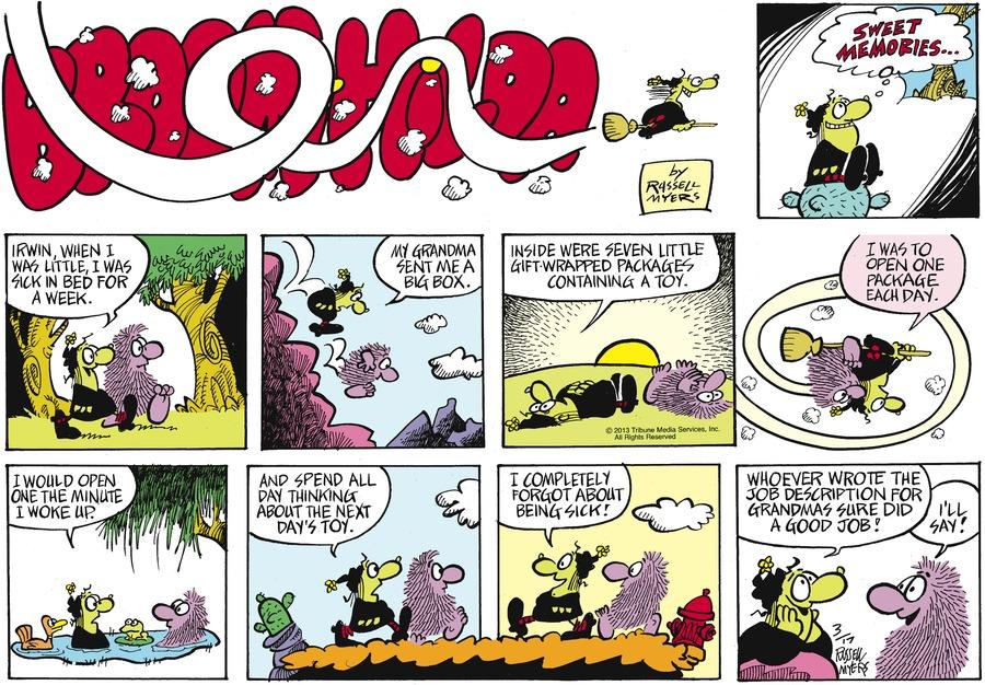 Broom Hilda for Mar 17, 2013 Comic Strip