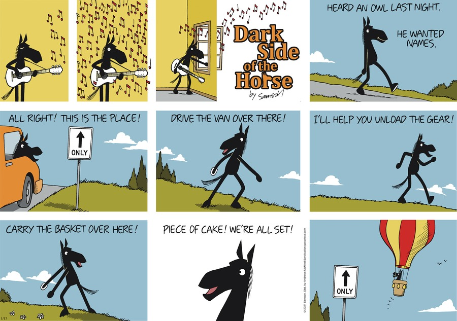 Dark Side of the Horse Comic Strip for January 17, 2021