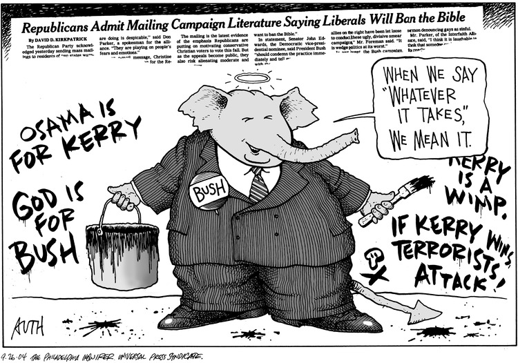 "Republican elephant: When we say ""Whatever it Takes"", we mean it."