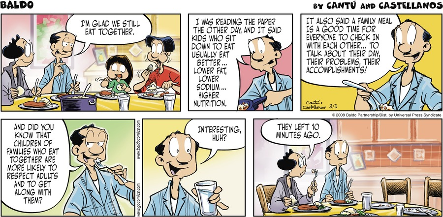 Baldo Comic Strip for August 03, 2008