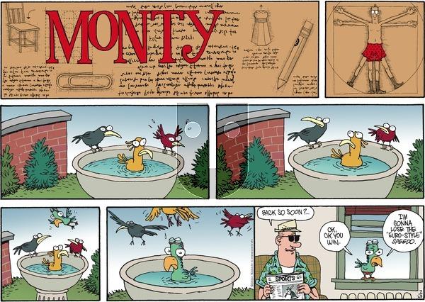 Monty - Sunday July 28, 2013 Comic Strip