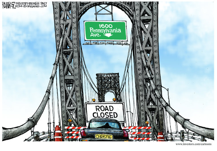 A Christie Bridge to Nowhere cartoon