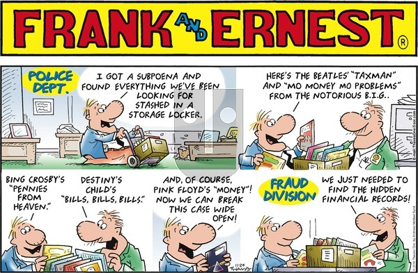 Frank and Ernest - Sunday November 24, 2019 Comic Strip