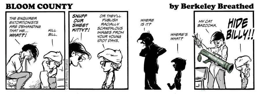 Bloom County 2018 by Berkeley Breathed for February 19, 2019