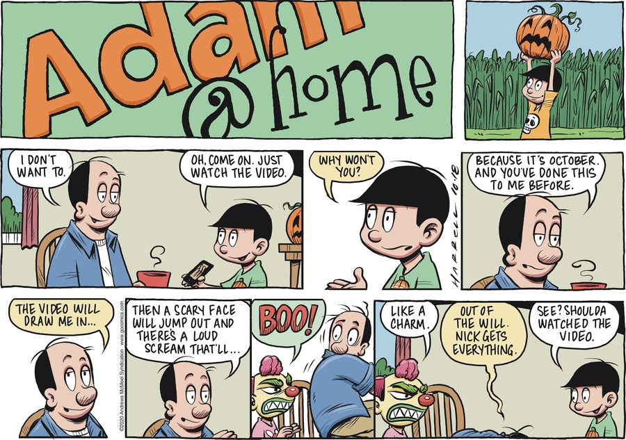 Adam@Home Comic Strip for October 18, 2020