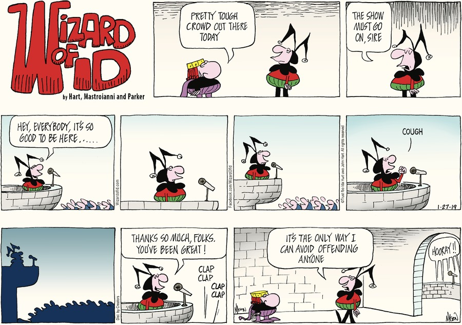 Wizard of Id by Parker and Hart for January 27, 2019