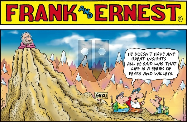 Frank and Ernest on Sunday January 10, 2016 Comic Strip