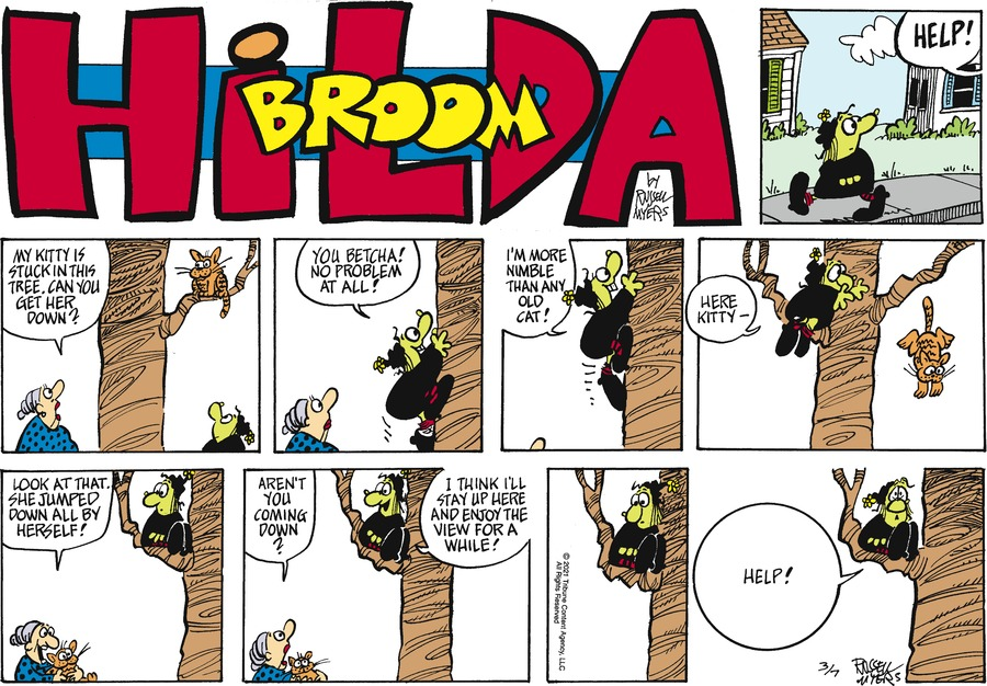 Broom Hilda by Russell Myers on Sun, 07 Mar 2021
