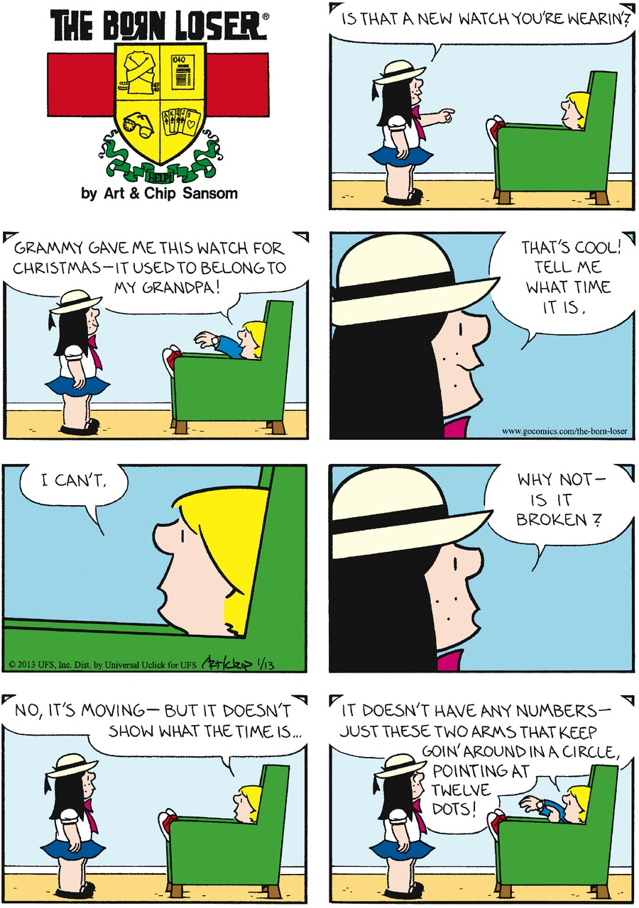 The Born Loser Comic Strip for January 13, 2013
