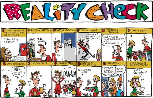 Reality Check on Sunday December 13, 2020 Comic Strip