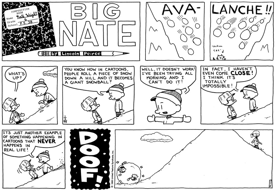 Big Nate: First Class Comic Strip for January 13, 2019