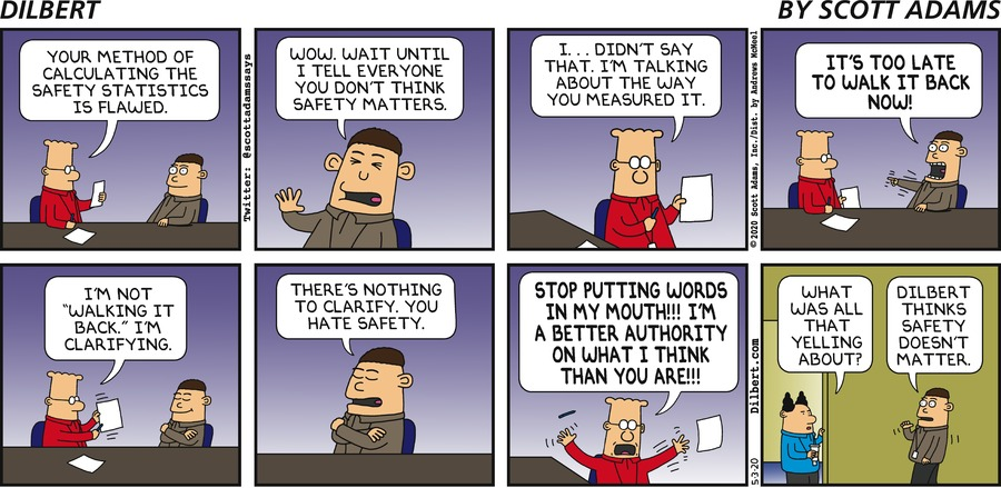 Dilbert Hates Safety - Dilbert by Scott Adams