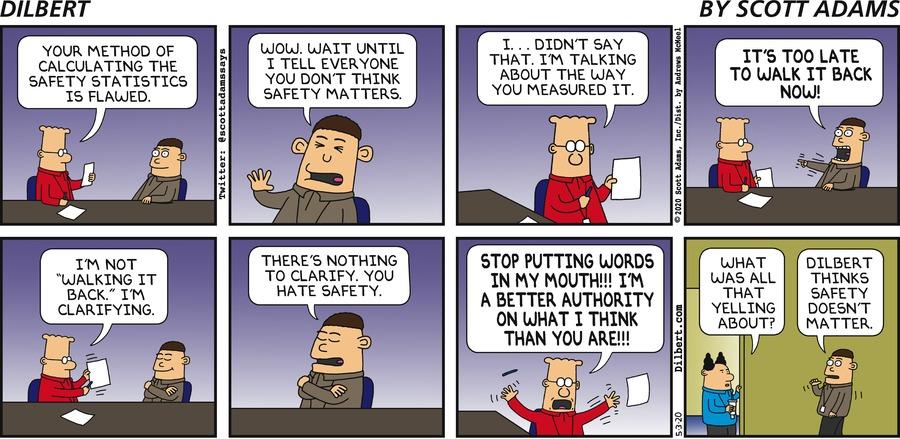 Dilbert Hates Safety - Dilbert by Scott Adams