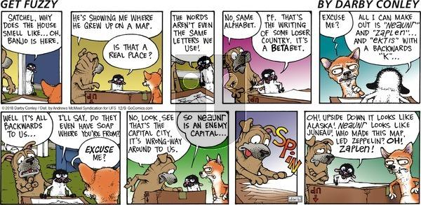 Get Fuzzy on December 9, 2018 Comic Strip