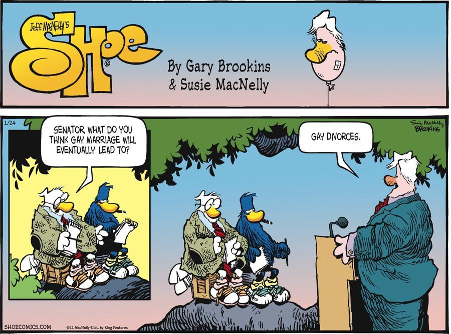 Shoe Comic Strip for January 24, 2021