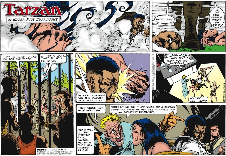 Tarzan Comic Strip for March 31, 2002