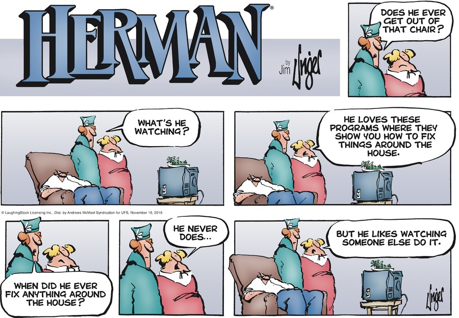Herman Comic Strip for November 18, 2018