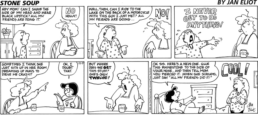 Stone Soup for Dec 3, 1995 Comic Strip