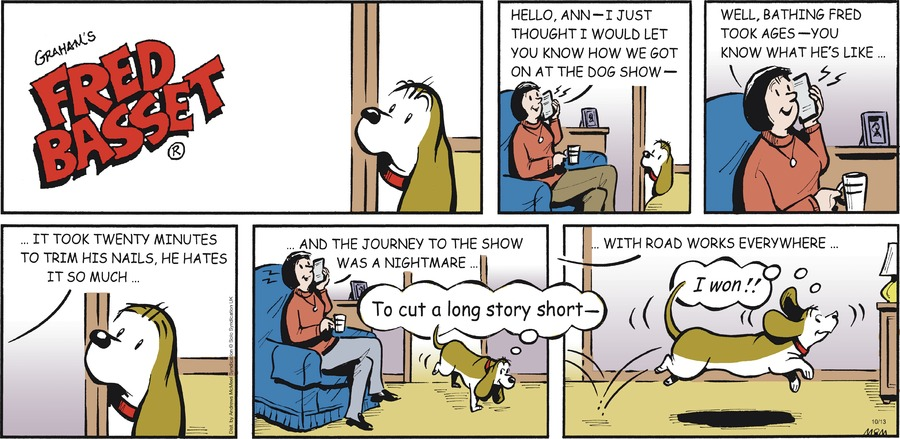 Fred Basset Comic Strip for October 13, 2019