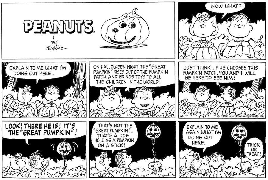 Peanuts Comic Strip for October 31, 1993